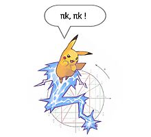 Math Pikachu Photographic Print