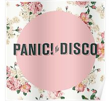Panic! At The Disco Floral Poster