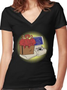 Unexpected Item - Dark shirts Women's Fitted V-Neck T-Shirt