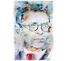 SARTRE - watercolor portrait Poster