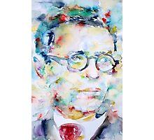 SARTRE - watercolor portrait Photographic Print