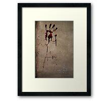 Zombie Attack Bloodprint - Halloween Framed Print