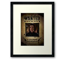 Buffy Dark Willow Wanted 2 Framed Print