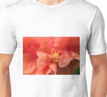 Orange Hibiscus Macro Unisex T-Shirt