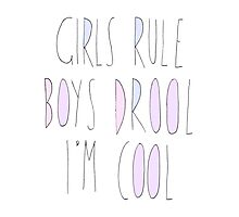 girls rule Photographic Print