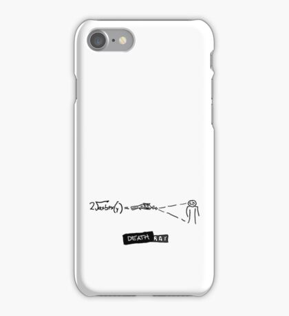 DR HORRIBLE - Death ray iPhone Case/Skin