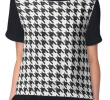 CatsTooth Pattern Chiffon Top