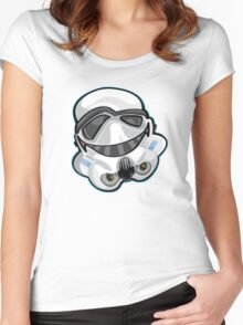 Star Wars Storm Trooper Illustration Women's Fitted Scoop T-Shirt