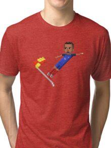 Corner flag flying kick Tri-blend T-Shirt