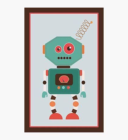 Fun Retro Robot Art Photographic Print