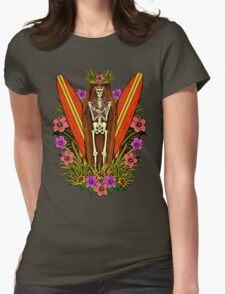 Tropical Horror Print 4 Womens Fitted T-Shirt