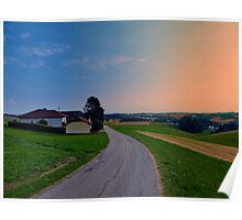 Country road on a summer afternoon II | landscape photography Poster