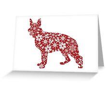 Christmas Snowflakes German Shepherd Greeting Card