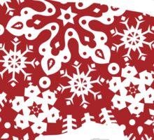 Christmas Snowflakes German Shepherd Sticker