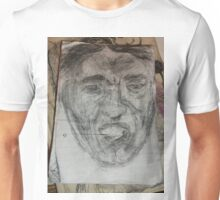 Male Head/Gargoyle/Copy -(300516)- Black biro pen/A5 sketchbook Unisex T-Shirt
