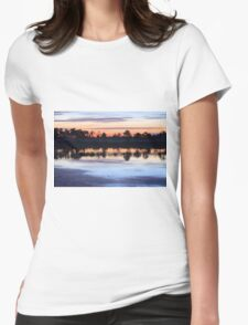Sunrise on Webb Lake Womens Fitted T-Shirt