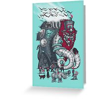 Dark Circusbot Greeting Card