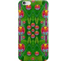 Orchid Forest Filled of big flowers and chevron iPhone Case/Skin