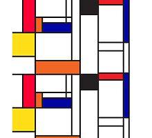 Mondrian inspired pattern by Veera Pfaffli