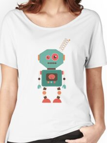 Fun Retro Robot Art Women's Relaxed Fit T-Shirt