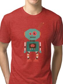 Fun Retro Robot Art Tri-blend T-Shirt