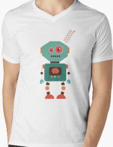 Fun Retro Robot Art Mens V-Neck T-Shirt