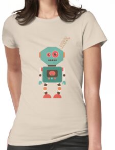 Fun Retro Robot Art Womens Fitted T-Shirt