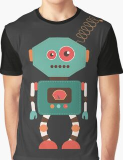 Fun Retro Robot Art Graphic T-Shirt