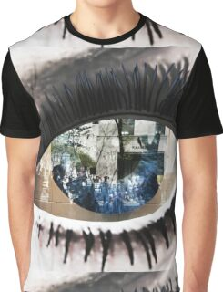 Eye with New York City Reflection Graphic T-Shirt