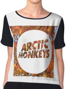 Arctic Monkeys Logo Autumn Print Chiffon Top