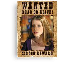 Buffy Dawn Wanted 1 Canvas Print