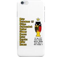 West Germany Euro 1972 Winners iPhone Case/Skin