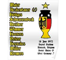 West Germany Euro 1972 Winners Poster