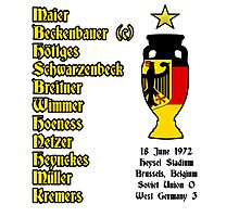 West Germany Euro 1972 Winners Photographic Print