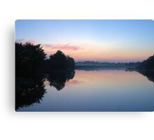 Another Swamp Sunrise Near Home Canvas Print