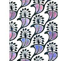 Art Nouveau Floral Photographic Print