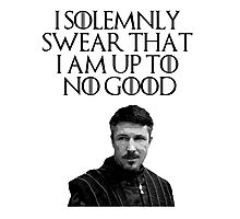 Lord Baelish - I Solemnly Swear Photographic Print