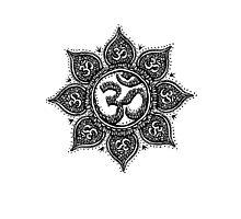 Ohm Sunflower Tattoo Photographic Print