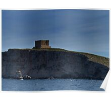 Comino Cliffside Poster