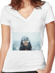 winter song Women's Fitted V-Neck T-Shirt
