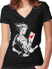 Hunter x Hunter- Hisoka Women's Fitted V-Neck T-Shirt