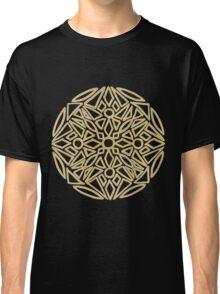 Golden mandala on black - OneMandalaADay Classic T-Shirt