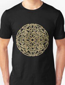 Golden mandala on black - OneMandalaADay Unisex T-Shirt
