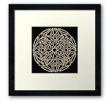 Golden mandala on black - OneMandalaADay Framed Print
