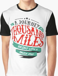 A Journey Of Thousand Miles Graphic T-Shirt