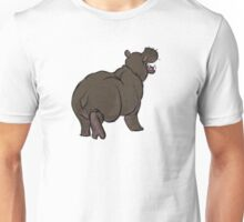 hippo animal drawing Unisex T-Shirt