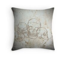 Skull sketched Throw Pillow