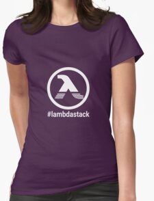LambdaStack - White Womens Fitted T-Shirt