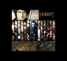 The Hobbit - Bilbo, Thorin, the Dwarves and Smaug by 525Kiba