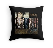 The Hobbit - Bilbo, Thorin, the Dwarves and Smaug Throw Pillow